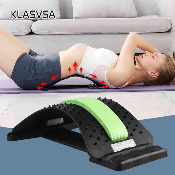 top popular KLASVSA Back Stretcher Massager Neck Waist Pain Relief Magic Support Massage Home Muscle Stimulator Relaxation Fitness Equipment 2021