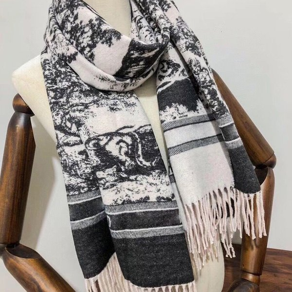 best selling 2021 Designer Classic Brand cashmere scarf For Men and Women Winter Big Letter pattern Shawls Size 180*65cm Top Quality