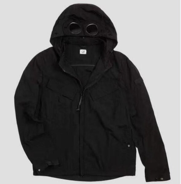 best selling Metal nylon two glasses GOGGLE men jacket casual CP hoodies outdoor windbreak black army green orange size M-XXL