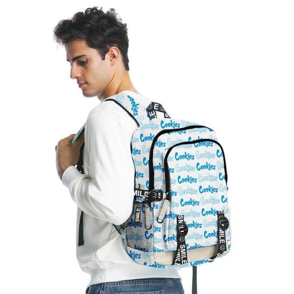 top popular Men Laptop Bag Backpack Cookies Teenager Backpacks 3D Print Boys Girls School Bags Travel Oxford Waterproof 2021
