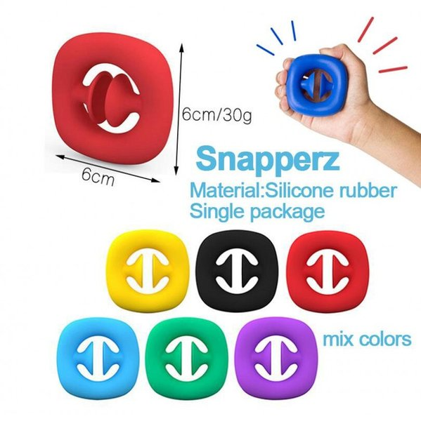 top popular Rainbow Fidget Grab Snap Squeeze Toy Hand Snappers Hands Strength Grip Grabs Squeezy Sensory Toys Autism Stress Relief 2021