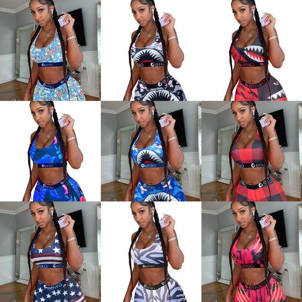 best selling Ethika Designer Swimsuit 2 Piece Bikini dresses Set Vest Tank Top Bra And Shorts Swimming Suit Luxury Shark Swimwear Brand Beachwear XS-5XL