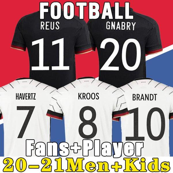 top popular Germany 2021 soccer jersey Home kit HUMMELS KROOS DRAXLER REUS MULLER GOTZE European Cup football shirts uniforms men + kids kits 2021