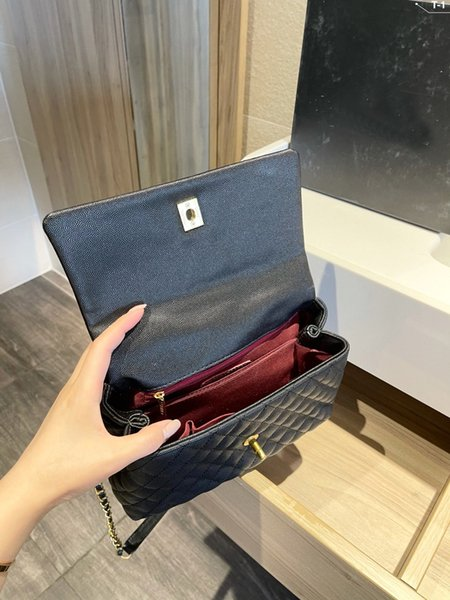 top popular High Quality Shoulder Bags Ladies Handbags Luxury Designer Fashion Women Real Leather Crossbody Gold Silver And Chain Wallet 25cm#19 2021