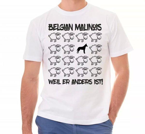 Malinois Unisex T-Shirt Black Sheep Men Dog Dogs Motif Mali Belgian