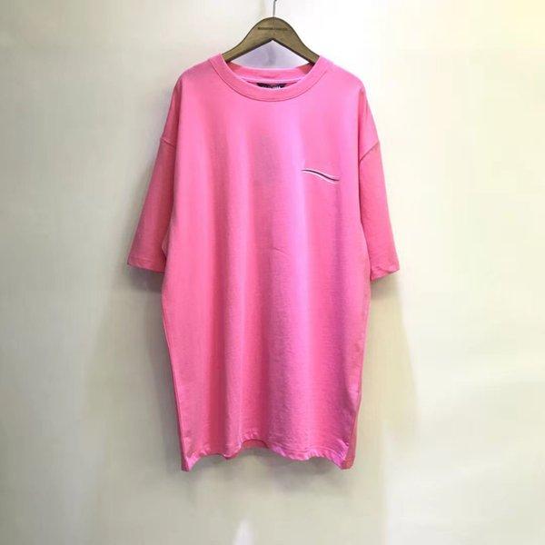 top popular 2021 Mens Women T Shirt Fashion summer wave pattern Men SCasual Shirts Man Clothing Street Designer Clothes 2021