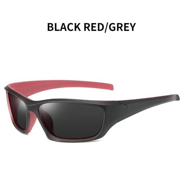 Vermelho preto - cinza