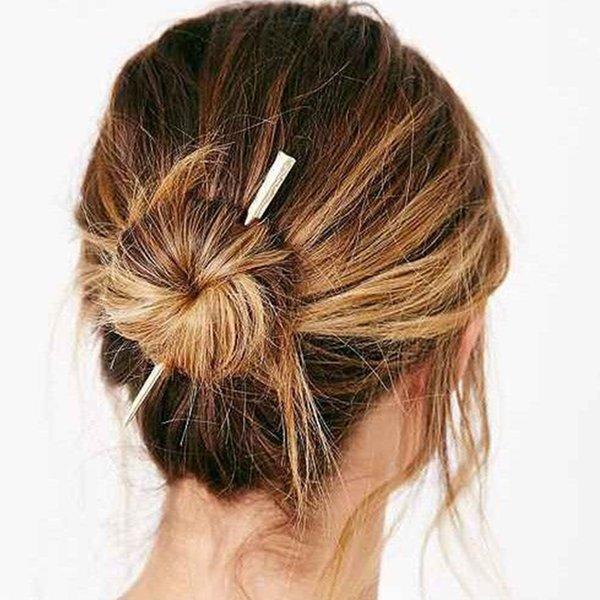 Hair Chopsticks Hairpin Woman Simple Hairpin Alloy Wedding Exquisite Hair Accessories Fashion Chinese Style Women Hair Stick