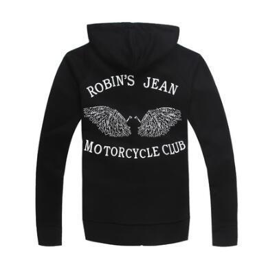 Robin Hoods Sweatshirts Zippé en gros-New Black Men hommes ailes imprimées Fashion StreetWear CN taille M L XL XXL XXXL, LIVRAISON GRATUITE