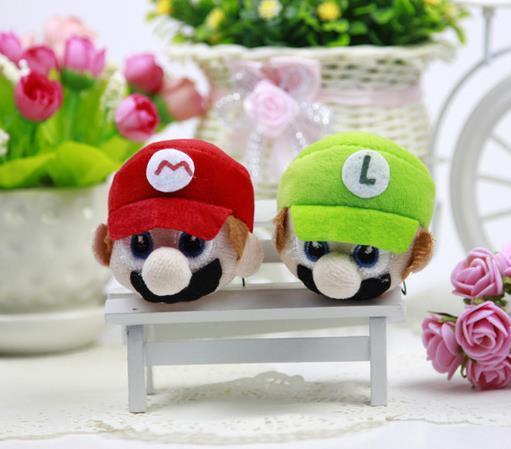top popular mario plush Cartoon action figures Stuffed Plush Toys Mario Brothers stuffed toys Super Mario Stuffed Keychain 2019
