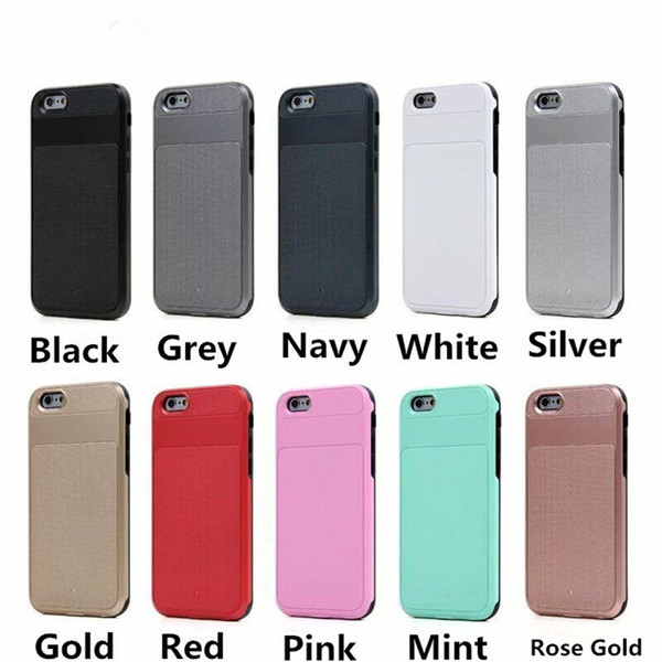 Caseology Hybird slim armor case Per iPhone 6 6S Plus drop skid resistance Robusto Hard PC TPU shell per Samsung GALAXY S6