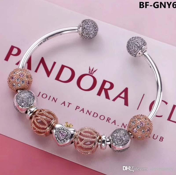 pandora c jewellers bangle charm gold rose charms bangles