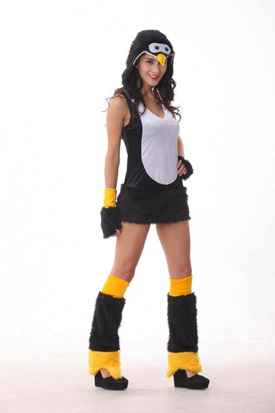 Wholesale-Hot Sale halloween costumes for women Sexy cosplay penguin costume Women disfraces fur clothes  sc 1 st  DHgate.com : penguin halloween costume adults  - Germanpascual.Com