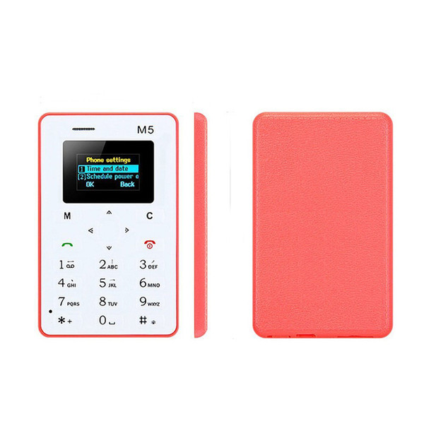 Chirstmas gift 4.8MM Ultra-thin AEKU M5 Special Card Cell Phone Chipset(MTK) Bar GSM Color Screen Mutilanguage