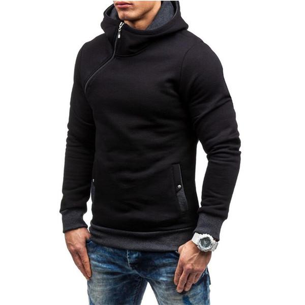 All'ingrosso-Assassins creed hoodie uomo Patchwork slim Felpa con cappuccio NEW hip hop zipper nero con cappuccio streetwear moletom justin bieber
