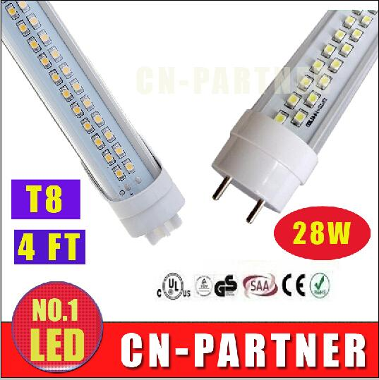 manufacturers direct sale UL CE ROHS 28W 4ft 1200mm T8 G13 Led Tubes Lights Double Rows 1.2m Led Fluorescent Tubes Light 192pcs SMD 2835