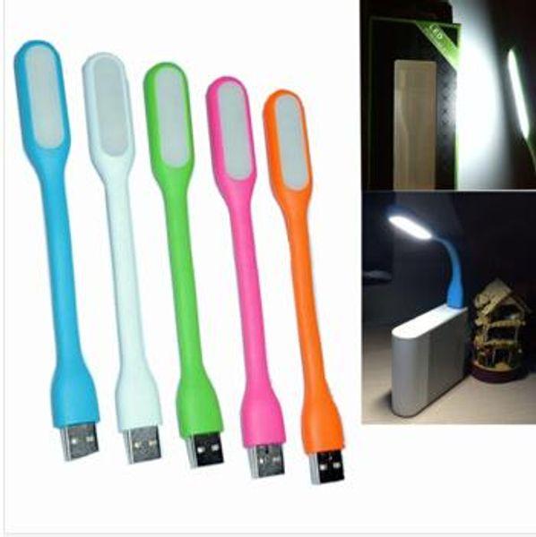 USB LED Lampada luce portatile flessibile Led per notebook Laptop Tablet PC USB Power con scatola al minuto
