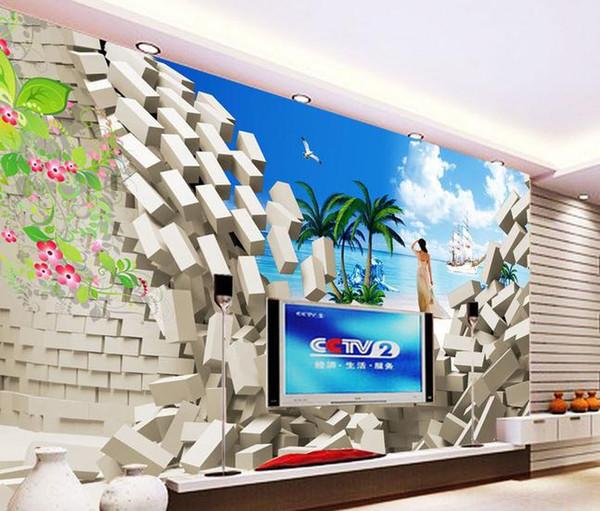 Papel de parede brich rosas mural adesivo de parede novo papel de parede grande papel de parede costomize tamanho 896528