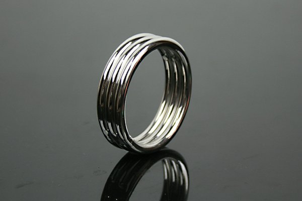 Penis Ring Cock Ring Cockring For Men Male Sex Products Sex Toys Adult Game Belt Lock Dick 45 50mm Stainless Steel free shipping #