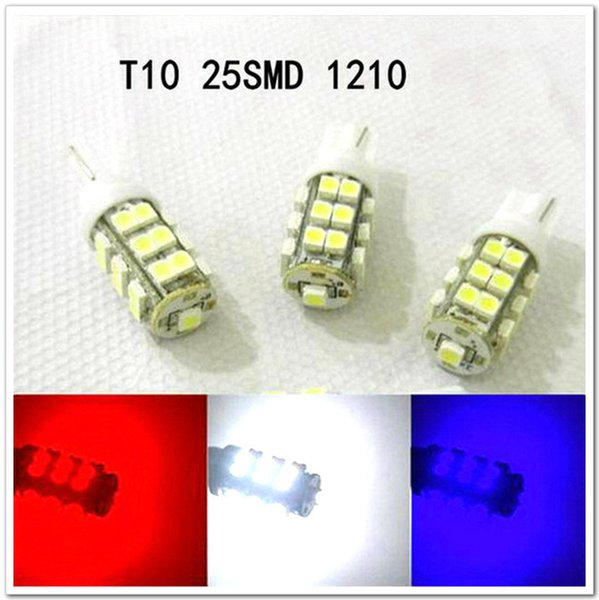 venta al por mayor Car Led Light 50 PCS T10 25SMD 25 LED Wedge Light Auto Bulbs Led Lamp