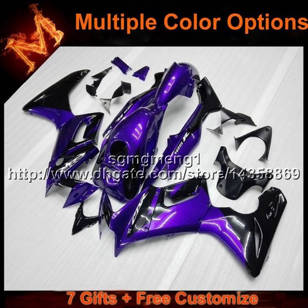 23colors+8Gifts PURPLE bodywork motorcycle panels For Honda 02 07 CBR125R 2002 2007 CBR 125R 02-07 ABS Plastic Fairing