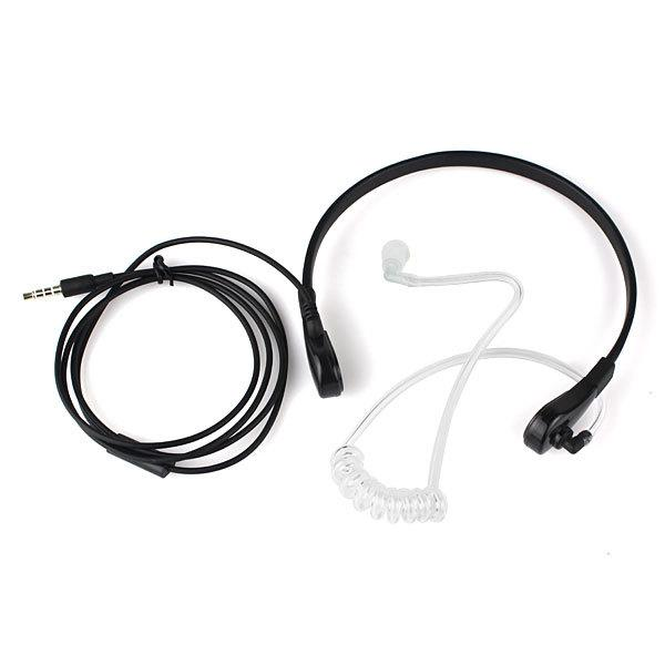 10pcs 1 Pin 3.5mm Throat MIC Headset Covert Air Tube Earpiece for iphone Samsung HTC LG MOTOROLA Mobile Phones C0169A Alishow