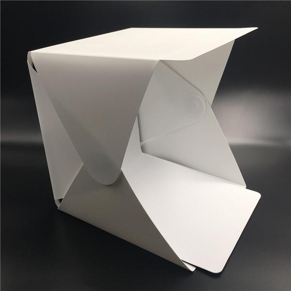 Taşınabilir Katlanır Lightbox Fotoğraf Stüdyosu Softbox LED Işık Yumuşak Kutu iPhone Samsang HTC DSLR Kamera için Fotoğraf Arka Plan