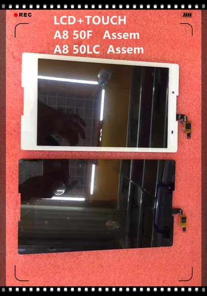 Wholesale- Original 8 inch Black white For Tab 2 a8-50lc A8-50F TV080WXM-NL0 LCD Display +Touch Digitizer Sensors Assembly Tablet Pc
