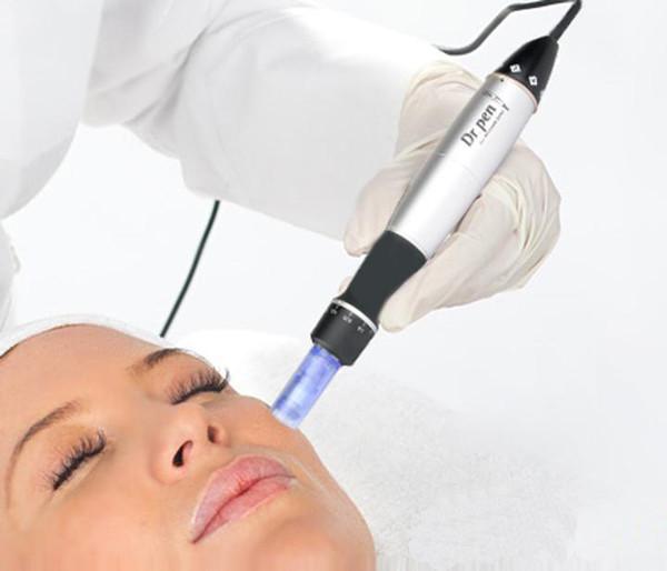 Rapide DHL Shiping 6 vitesses Derma Pen Electro Auto Micro Therapy Therapy Dr.pen vibrant Derma Pen Dermastamp avec des cartouches d'aiguille gratuites