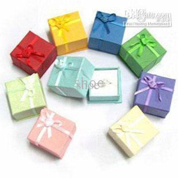 best selling Epack 48pcs jewelry box gift boxes ring box beads box size 4x4x3 cm pick 10 colors
