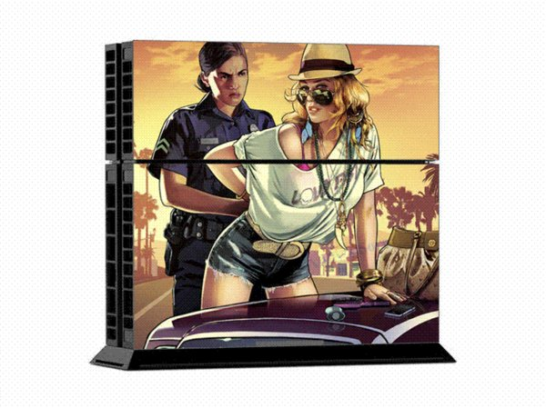 New Grand Theft Auto V Game GTA 5 Protective Decor Skin Sticker for SONY Playstation 4 Decal Stickers for PS 4 PS4