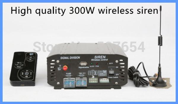 Amerika tasarım Yüksek kalite DC12V, 300 W Polis araba kablosuz siren amplifikatörler hoparlör olmadan mikrofon ile ambulans uyarı siren alarm,