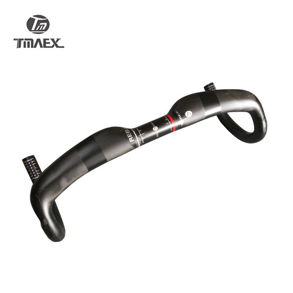 TMAEX_ Newest Full Carbon Handlebar Road Bike Handlebar Racing Handle Bar Bicycle Parts Cycling Accessories31.8*400/420/440mm