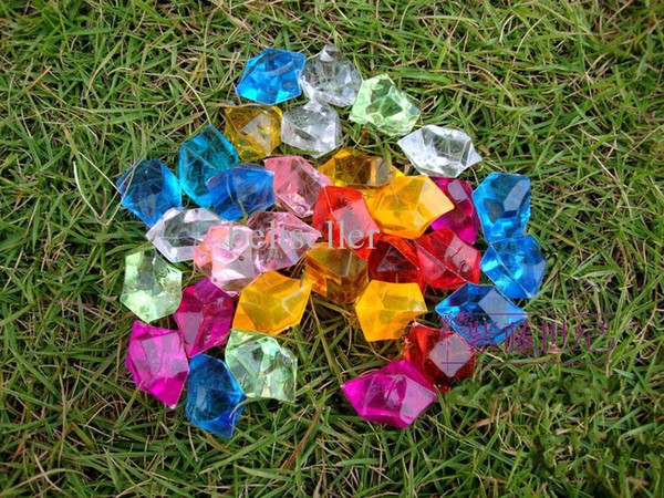 Colorful 2cm*3cm irregular shaped Royal Crystal Diamond stone for Christmas Ornament Glass vases decor home decor accessories