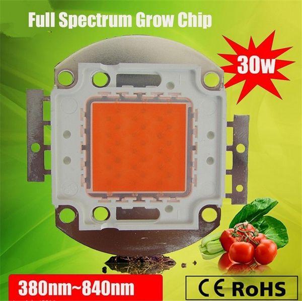 LED planta crecer luz chip super intensidad de interior led crece la luz de espectro total de 380 840nm 30W cob led luz para el cultivo de Epileds1500mA