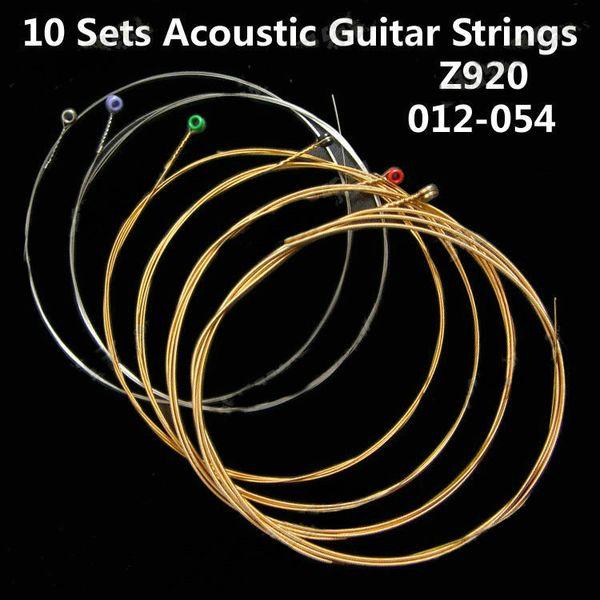 10 SETS E910 Steel Acoustic Guitar Strings light 011-052 &Z910 & Z920 &Z900