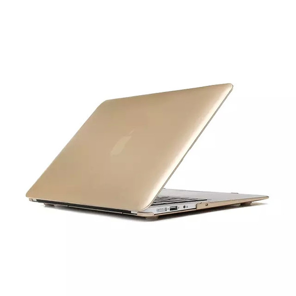 Gold Golden Matte Hard Plastic PC Case Cover Protector Shell for Apple Macbook Air Pro with Retina 11 13 15 inch Laptop Folding