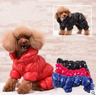 Cappotto invernale per cani Cappotto invernale per cani Cappotto invernale in cotone per cani di piccola taglia Vestiti imbottiti in cotone per chihuahua