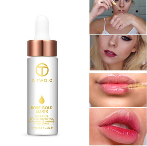 best selling O.TWO.O 24K Rose Gold Infused Beauty Oil Elixir Skin Make Up Essential Oil Before Primer Foundation Moisturizing Face Oil
