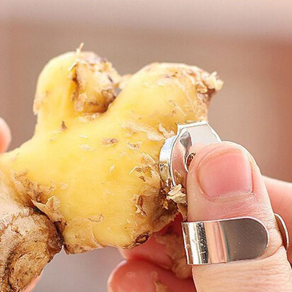 Practical Stainless Steel Kitchen Gadget Garlic Ginger Cutter Peeler Tools H2010195