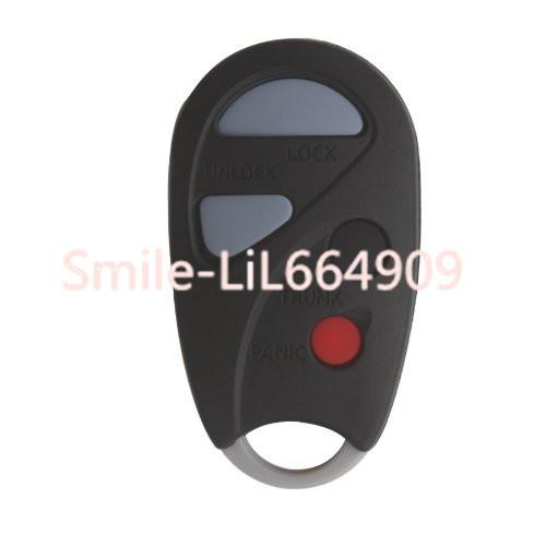 For Nissan Infiniti I30 Sentra Maxima Pathfinder Xterra No chip Keyless Remote Transmitter Car Key Case Shell 4/3+panic Buttons
