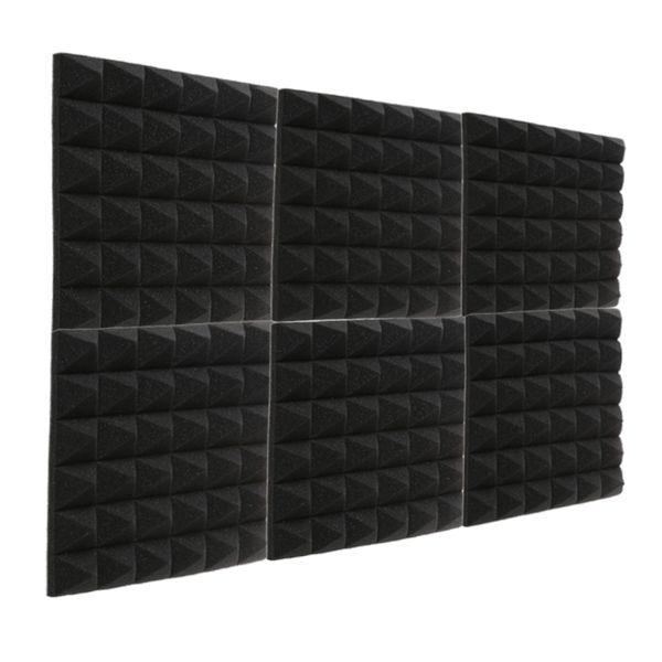 top popular 24PCS Fireproof Pyramid Acoustic Foam Recording Studio sound insulation Sponge Sound Treatments Soundproof Panel 12X12X2 inch 2021