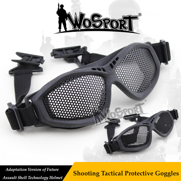 WoSporT Tactical safety eyeglasses paintball Steel Net Mesh FAST Helmet Shooting Glasses outdoor Airsoft Hunting sunglasses