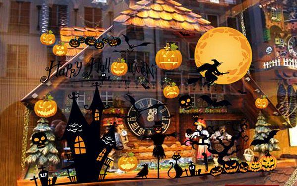 halloween wall sticker halloween festival decorative glass windows art stickerwall covering 60