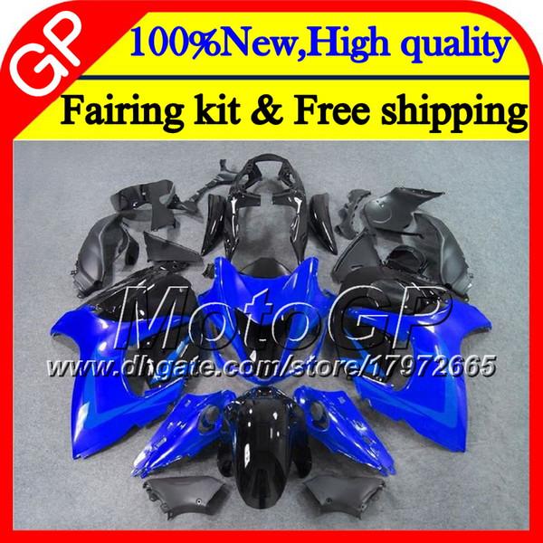 Cuerpo para SUZUKI Hayabusa GSXR1300 08 09 10 11 42GP30 GSX R1300 12 13 14 15 GSXR 1300 Azul negro 2012 2013 2014 2015 Motorcycle Carenado
