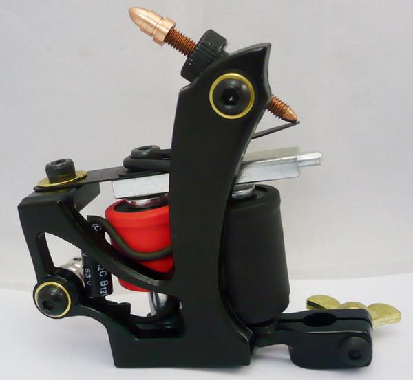 New Professional Tattoo Machine 10 Warp Coil Black Tattoo Gun For Beginner Shader Liner 1110484-1