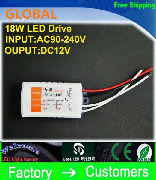 NUEVO producto 12V 1.5A 18W 100-240v Transformadores de iluminación de alta calidad Controlador para LED Strip RGB Bombilla de luz de luz Controlador Fuente de alimentación
