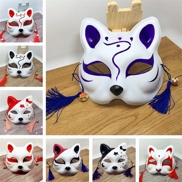 Nueva venta caliente forma de gato máscara Anime Cosplay máscaras de fiesta Fiesta fiesta máscaras suministros de bar IA956