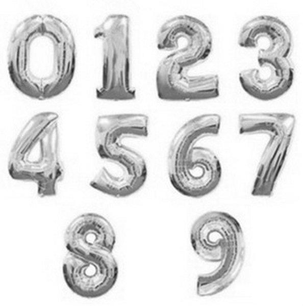 numeri d'argento da 0 a 9