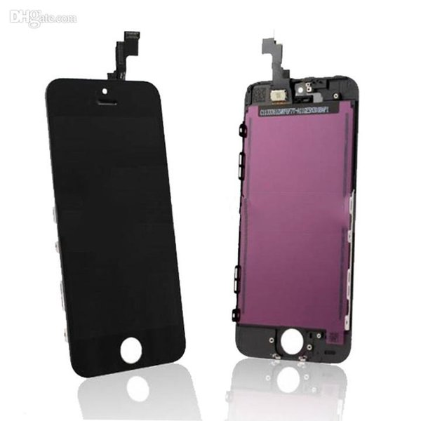 Test prima di spedire iphone 5c lcd nero bianco display LCD Touch Screen Digitizer Assemblaggio completo per iPhone 5 5S 5C parti di ricambio di ricambio